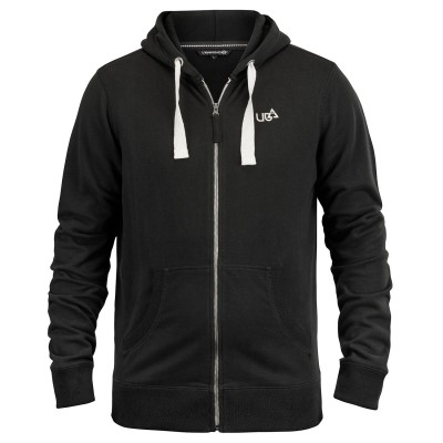 Mens Mitchell Raven Black Full-Zip Hoodie