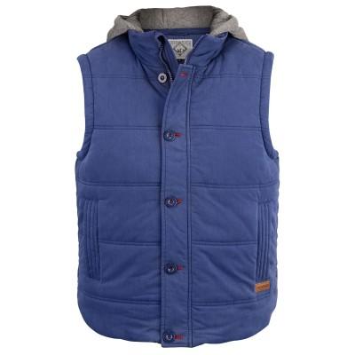 Mens Wolf Patriot Blue Gilet Jacket