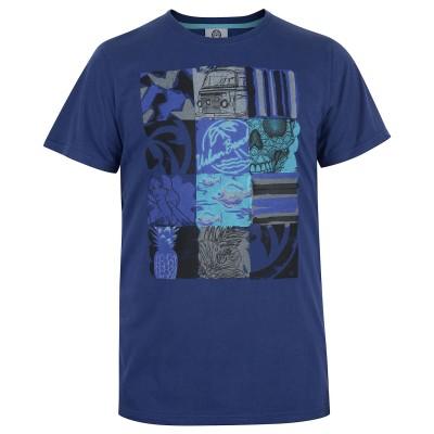 Mens Navy 3x4 T-Shirt