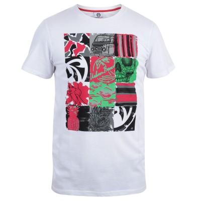 Mens White 3x4 T-Shirt