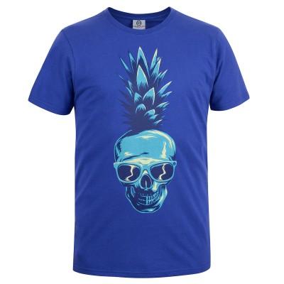 Mens Blue Pineapple T-Shirt