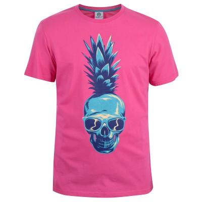 Mens Pink Pineapple T-Shirt