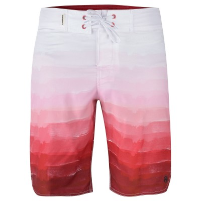 Mens Red Brush Board Shorts