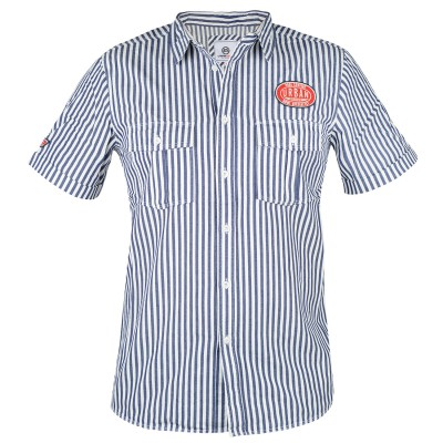 Mens White Exon Gas Tender Shirt