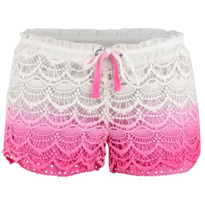 Ladies Pink Avalon Deco Hot Pants