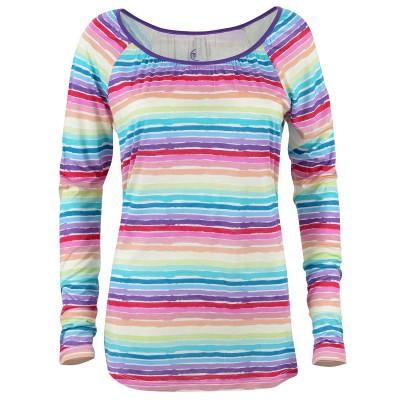 Womens Rainbow Dream Beach Raglan Long-Sleeve T-shirt