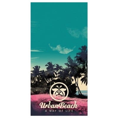 Tropical Island Beach Towel