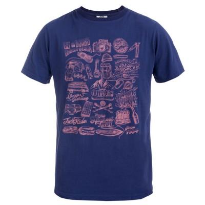 Men's Luca Crew Neck T-Shirt Navy