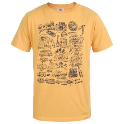 Men's Luca Crew Neck T-Shirt Yellow