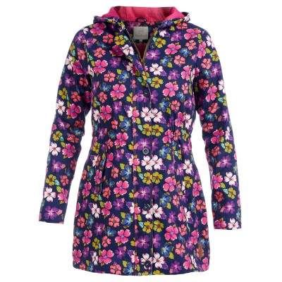 Womens Snowdrop Canvas Rain Mac