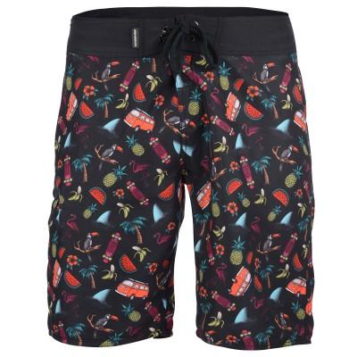 Men's Cribbar Board Shorts - Black