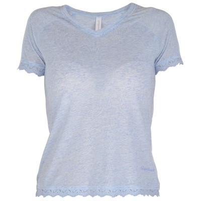 Womens Victoria Short Sleeved Top - Blue