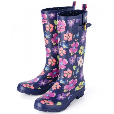 Womens Carnaby Floral Festival Wellies