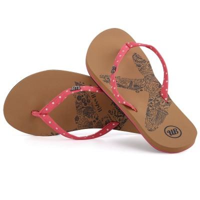 Womens Penryn Flip Flops - Red