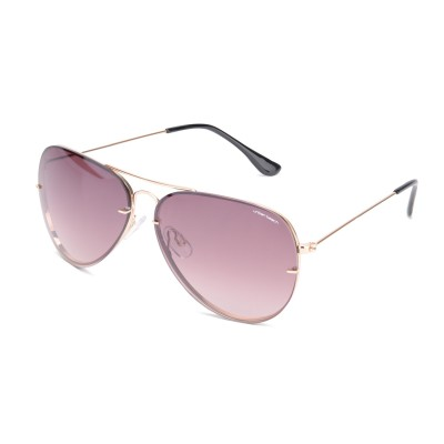 Unisex Brown Sunset Aviator Sunglasses