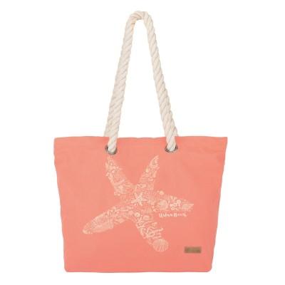 Womens Rope Beach Bag - Pink