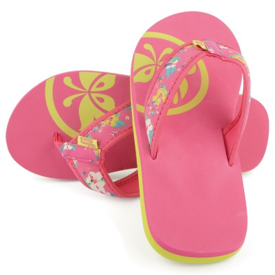 Womens Pink Cadillac Drive Flip Flops