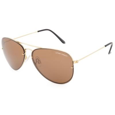 Sunset Aviator Sunglasses Brown