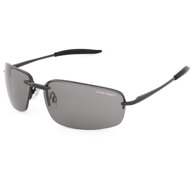 Mens Utah Oval Lens Sunglasses Black