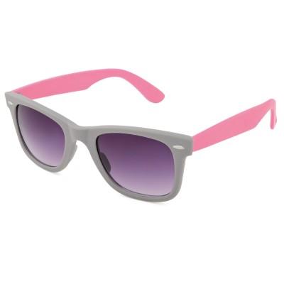Womens Two Tone Wayfarer Sunglasses Slate