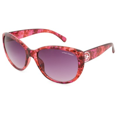 Womens Tabloid Cat Eye Sunglasses Red