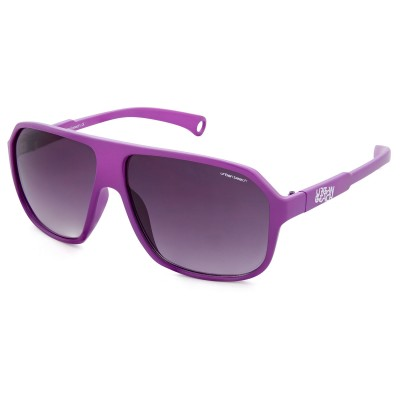 Unisex Purple Mcfly Retro Flat Brow Sunglasses