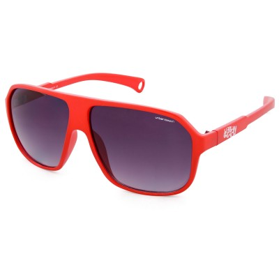 Unisex Red Mcfly Retro Flat Brow Sunglasses