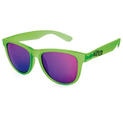 Unisex Green Tron Wayfarer Sunglasses
