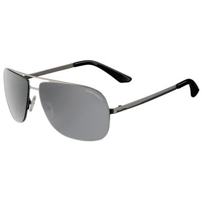 Mens Dark Grey Thompson Aviator Sunglasses