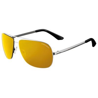 Mens Silver Thompson Aviator Sunglasses