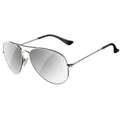 Mens Silver Hunter Aviator Sunglasses