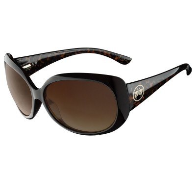 Womens Brown Felis Cat Eye Sunglasses