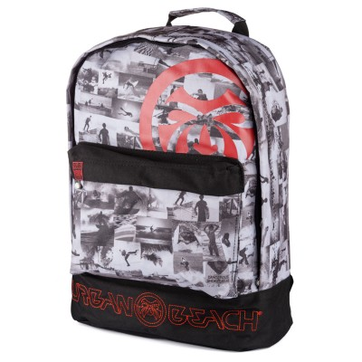 Mens Collage Back Pack Black