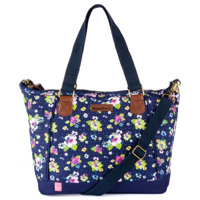 Womens Bloom Shoulder Bag Dark Blue