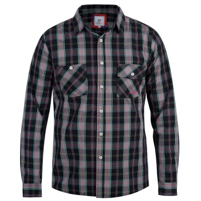 Mens Black Bennet Long-Sleeved Shirt
