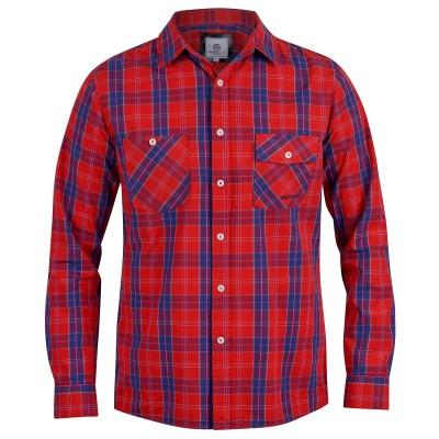 Mens Red Bennet Long-Sleeved Shirt