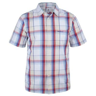Mens White Short Sleeved Shirt