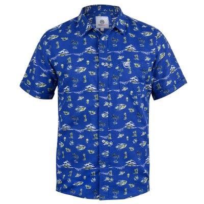 Mens Blue Mauna Hawaiian Shirt