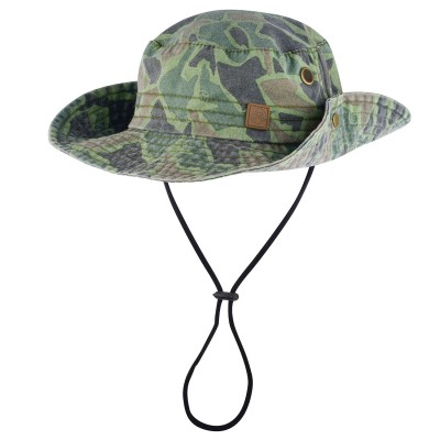 Mens Camo Bush Walk Bush Hat