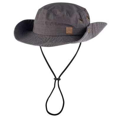 Mens Grey Bush Walk Bush Hat