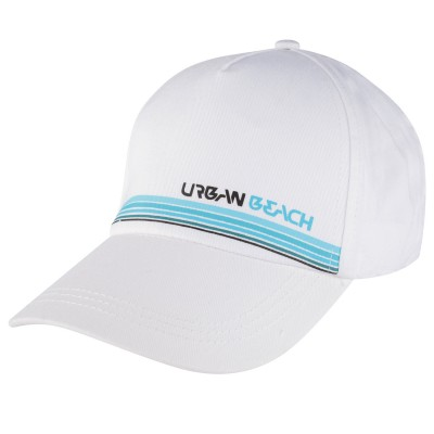 Mens White Horizon Flex-Fit Cap