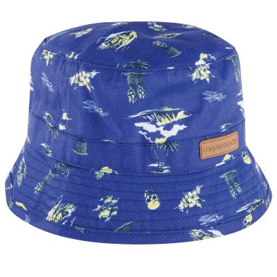 Mens Blue Hilo Bucket Hat