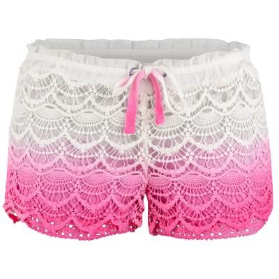 Ladies Pink Avalon Deco Hot Pants