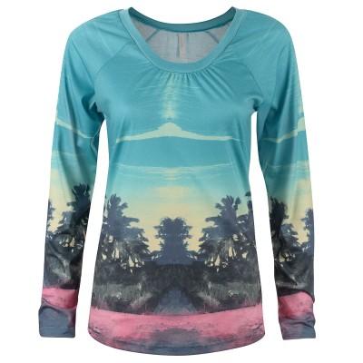 Womens Aqua Dream Beach Raglan Long-Sleeve T-shirt