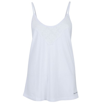 Womens White All laced up Vest Top