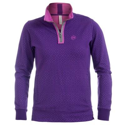 Women's Ornate Lace Purple Sweatshirt