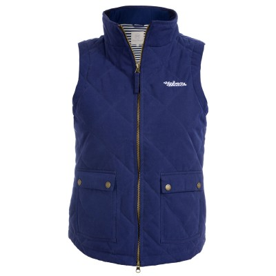 Womens Carlo Quilted Navy Gilet