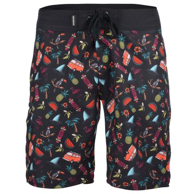 Men's Cribbar Board Shorts - Black