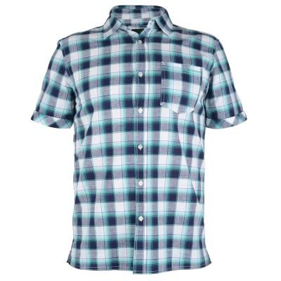 Mens Huang Check Shirt - Navy Blue