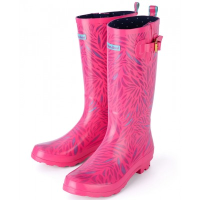 Womens Wolf Pink Festival Wellies